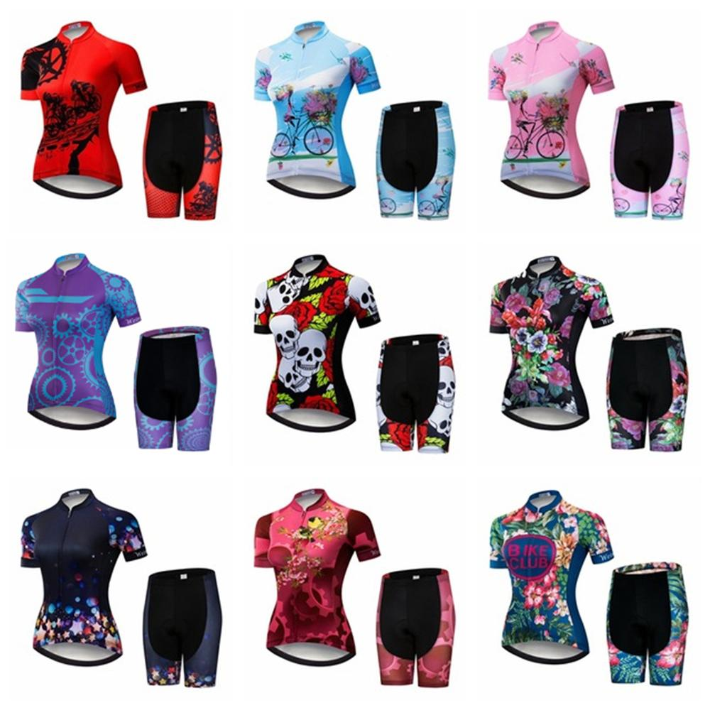 2019 Cycling Jersey Sets Women MTB Bike Clothing Breathable Mountian Road Bicycle Suit Pro Team Ropa Ciclismo Bike Top Bottom
