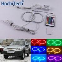 For Chevrolet Niva 2009 2010 2011 2012 2013 Multi color Led Angel Eyes Kit RGB Halo Rings Daytime Light DRL