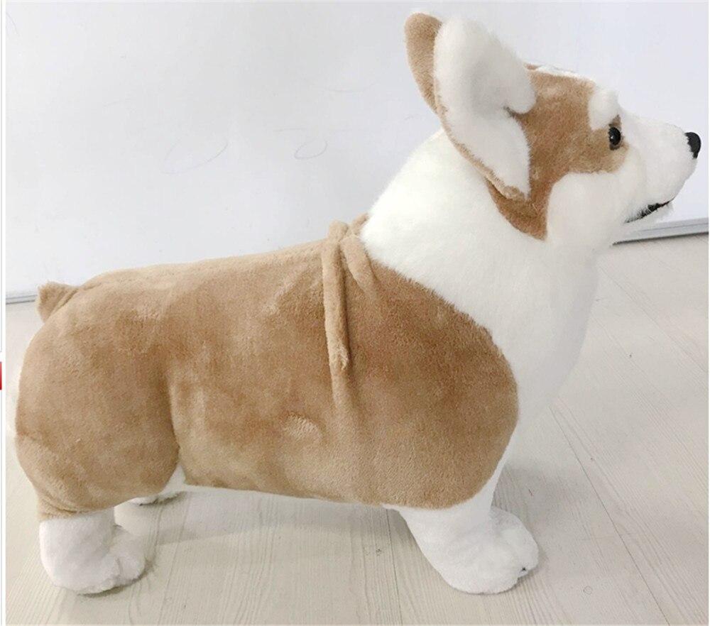 Fancytrader имитация плюша корги собака игрушка для детей большой реалистичное качество животные собака кукла 50 см 20 дюймов