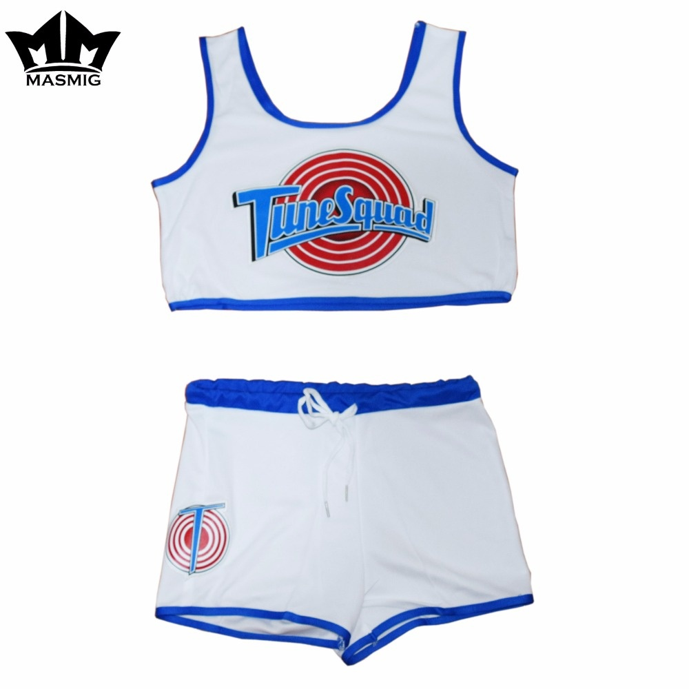 Movie Space Jam Women Sport Suit Outdoor Sports White