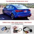 For KIA Forte / Cerato 2010~2013 - BIBI Alarm Parking System / Rear View Camera + Car Parking Sensors = 2 in 1 Visual