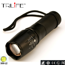 LED CREE XM-L2 Flashlight 8000lumen Torch Zoomable Tactical Flashlight for 18650/26650/AAA for Hunting Camping