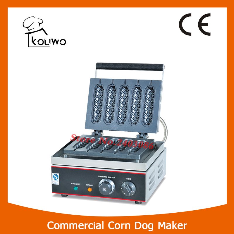 KOUWO High Efficiency Five Parts Muffin Hot Dog Waffle Maker hot parts
