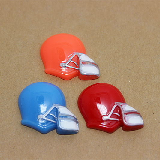 Mix colors 30pcs American Football Helmet Resin Cabochons Flatbacks for DIY decoration