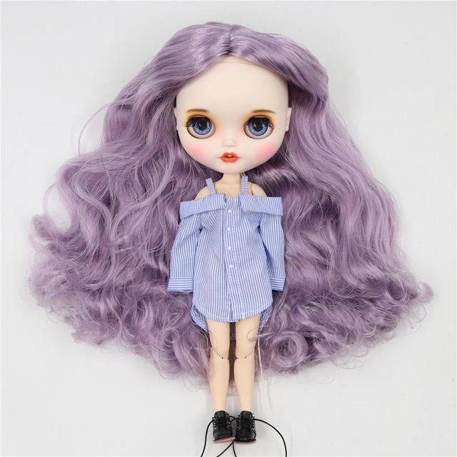 Brielle - Gülümsəyən üzü olan geyimli Premium Xüsusi Blythe Doll