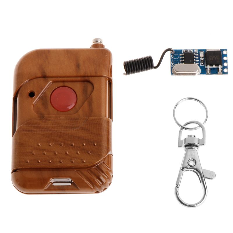 315mhz/433mhz Mos Micro Remote Control Switch Dc3.5-12v Receiver Transmitter No Sound Learning