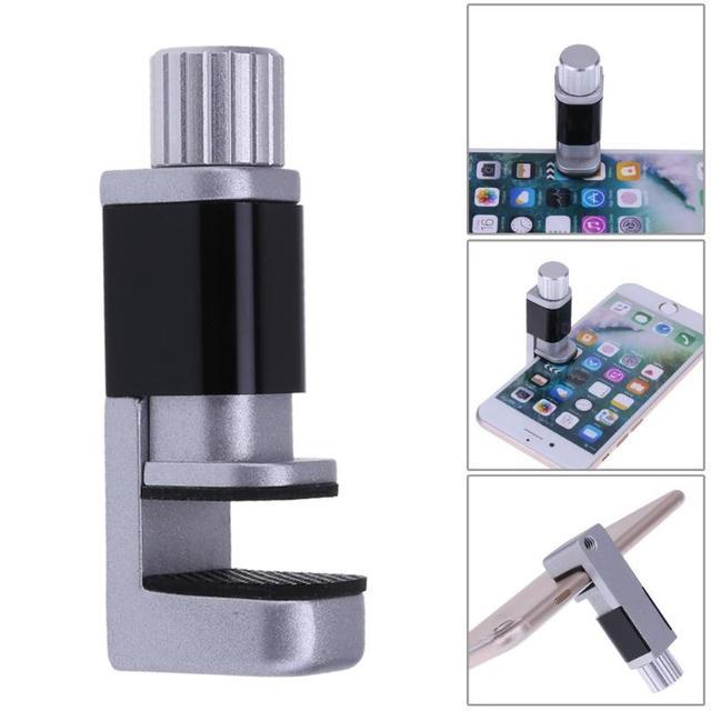 Regolabile in alluminio di fissaggio della clip per il telefono astuto tablet schermo lcd digitale di fissaggio morsetti cellulare strumento di riparazione del telefono