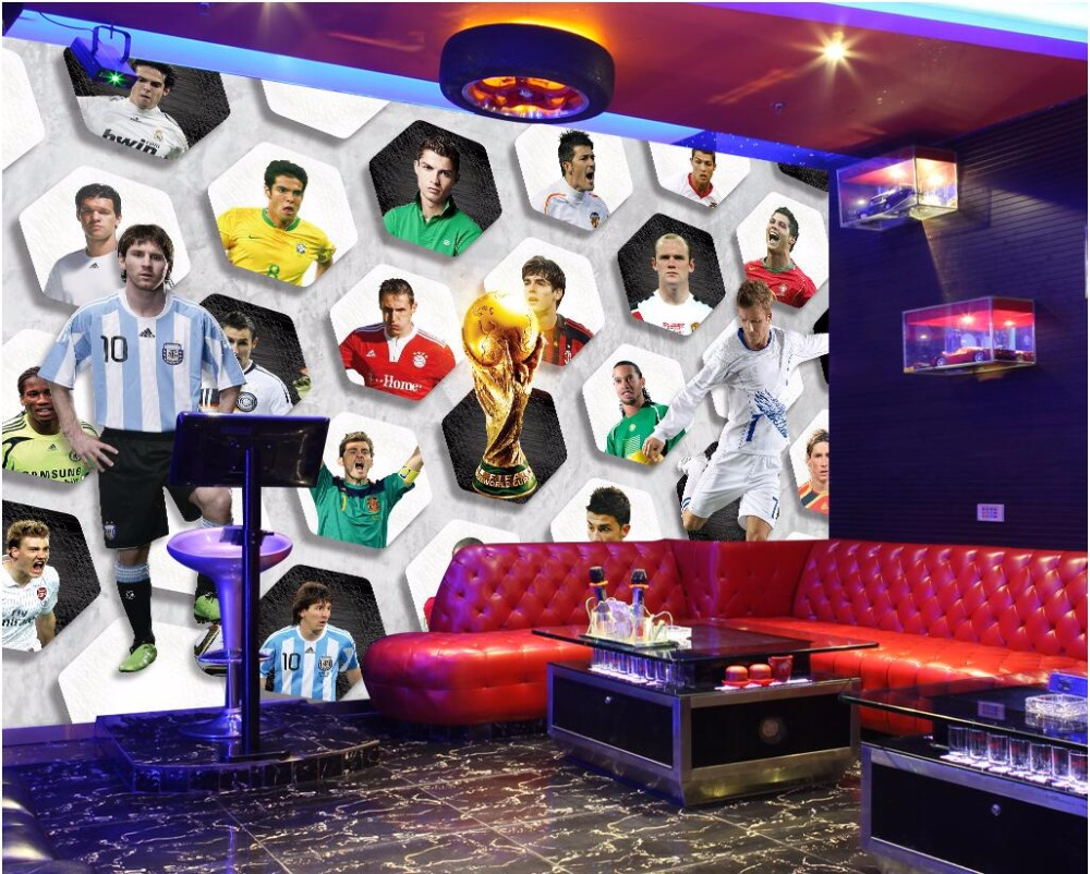 3d wallpaper custom photo non-woven mural World Cup soccer star background picture decor painting room wallpaper for walls 3d powerful underwater flashlight led scuba diving lanterna xml l2 waterproof led torch dive light 18650 26650 rechargeable battery