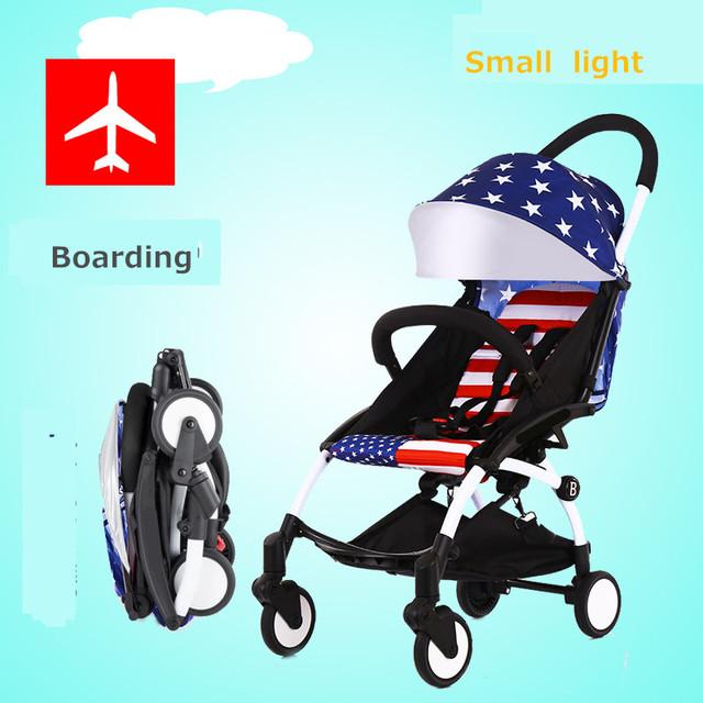 Super leve carrinho de bebê minni fácil dobrar muitas cores carry on avião yoya carrinho de 175 graus em estoque.