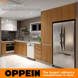 2016 Австралия проект отделка меламина деревянный кухонный шкаф по индивидуальному заказу OP16-M02