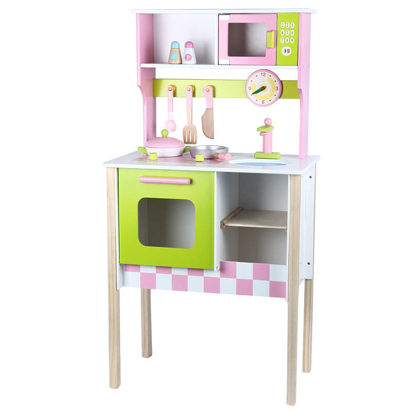 Wood Kitchen Toy Kids Cooking Pretend Play Set Toddler Wooden Playset toy gift goplus kids wooden toy shop market children shopping pretend play set colorful toddler baby christmas birthday gift hw56112