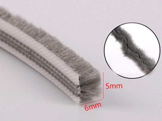 5mm X 6mm Aluminum Door Sliding Window Tape Pile Brush
