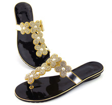 doershow Hot Sale Fashion Wedding Shoes Pumps Rhinestone African Cork Sandals Free Shipping DD1 83