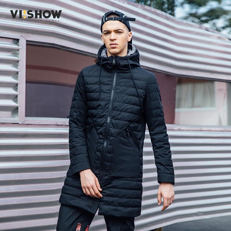 VIISHOW New Casual Brand White Duck Down Jacket Men Winter Warm Long Coat Mens Duck Down Jacket Male Pleatd Parka YC2724174