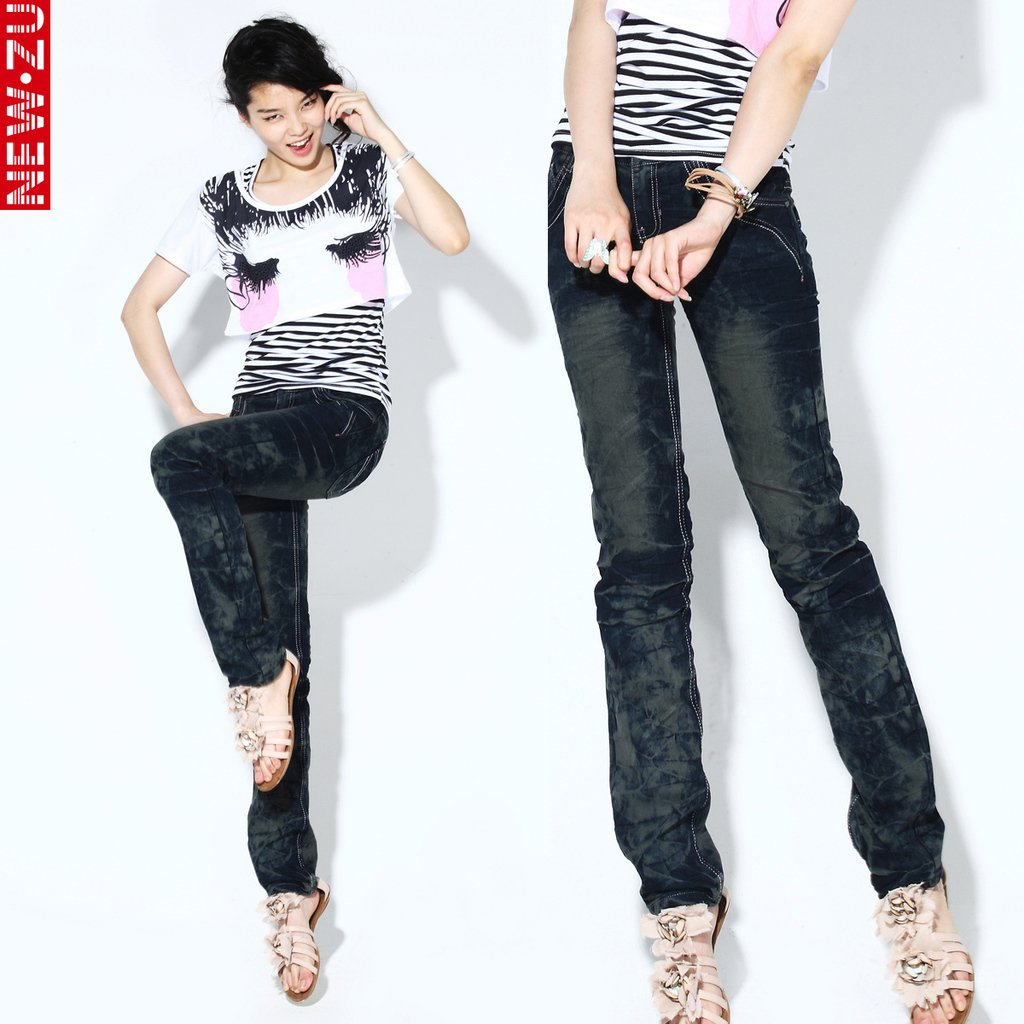 Cheap designer brand jeans women drak blue jeans clothing Designer clothes discounted