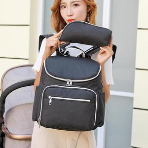 Image 4 - Bolsa de pañales para bebés recién nacidos con carga USB, mochila momia impermeable, bolso portátil, bolsa de maternidad para el cuidado del bebé