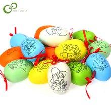 20 шт./10 шт./5 шт. игрушки для детей креативные ручной работы DIY пасхальное яйцо ручной работы мультфильм окрашенная яичная скорлупа детские развивающие игрушки GYH