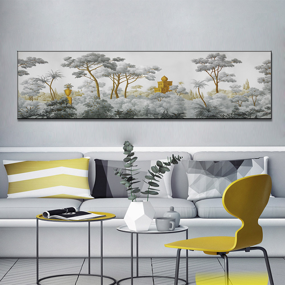 Unframed Canvas Prints Forest Ancient Temple Giclee Wall Decor Living Room Decoration Mural Module Art Spray Painting