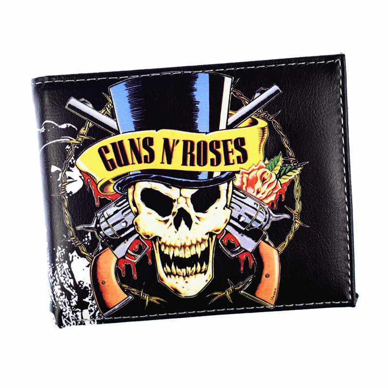 FVIP Music Rock Band Wallet Guns N' Roses /AC DC / Nirvana / Rolling Stone Wallets Credit Card Holder Purse