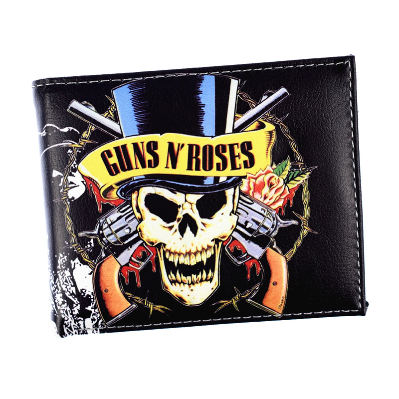 FVIP Music Rock Band Wallet Guns N' Roses /AC DC / Nirvana / Rolling Stone Wallets Credit Card Holder Purse climate men women cool rock music trucker mesh caps guns n roses cap women men g n r gnr fans cap rock music band fans cap hat
