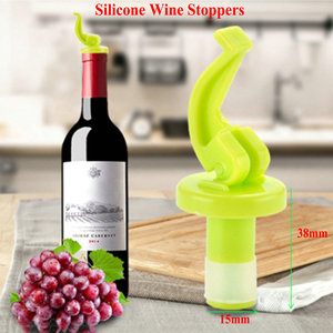 4Pcs Silicone Wine Stoppers Bo