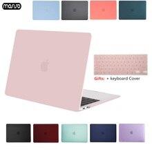 Mosiso 크리스탈 매트 서리로 덥은 케이스 커버 슬리브 macbook air 11 air 13 인치 a1466 a1932 mac pro 13 15 retina a1706 a1708 a1989