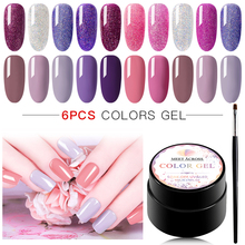 MEET ACROSS 5ml Gel Polish Nail Art Set For Manicure Hybrid Nails Glitter Varnish Long-Lasting UV