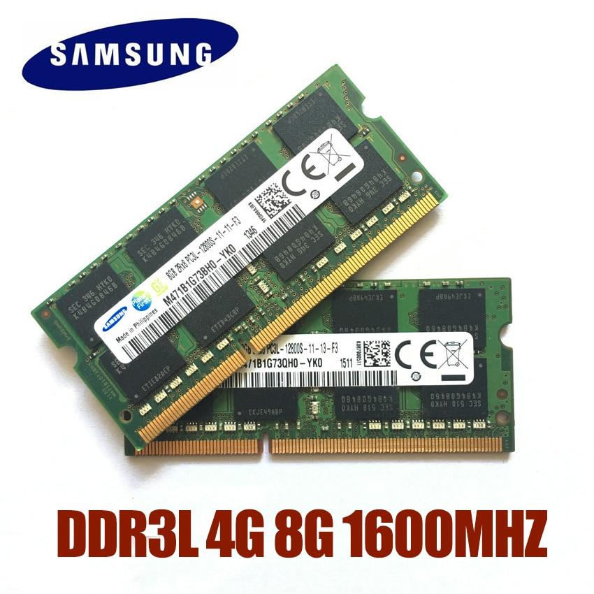 Samsung RAM PC3L-12800S/10600S DDR3L 1600Mhz 1333MHz  4GB 8GB Laptop Memory Notebook Module SODIMM DDR3 RAM