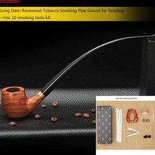 """9 """"/23 cm 10 Outils Kit Longue Tige Pipe En Bois de rose pour Mauvaises Herbes 3mm En Métal Filtre En Bois tabac à Pipe Acrylique Porte-Parole ad0008"""