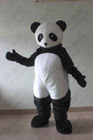 slim panda mascot costume custom cartoon panda walking actor PP cotton body