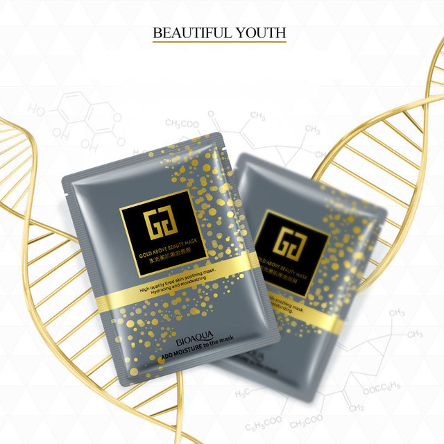 Belleza máscara Facial dorada esencia negra Gel de ácido hialurónico maquillaje antiedad arrugas hidratante cuidado de la piel para la cara