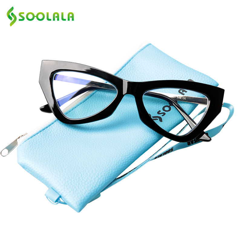 SOOLALA Triangle Blue Light Blocking Computer Glasses Women Blue Light Anti UV Anti Fatigue Glasses For Computer Protection
