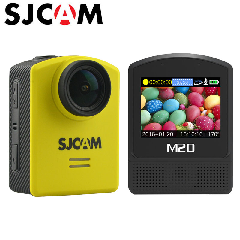 цена на Action Camera SJCAM M20 Sports DV Gyro Mini Helmet Waterproof 4K 24fps 2K 30fps NTK96660 16MP With RAW Format Original SJ Cam
