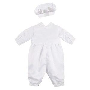 Image 3 - ベビーボーイズベビードレス幼児少年結婚式誕生日パーティーロンパースベスト帽子フォーマル紳士スーツ洗礼ベビー少年服
