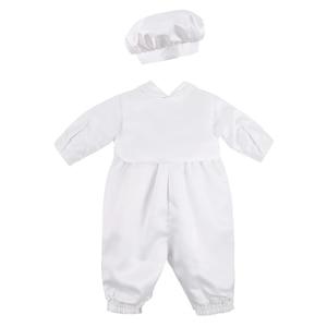 Image 3 - Dla dzieci chłopcy chrzciny strój niemowlę chłopiec ślub urodziny Romper kamizelka kapelusz Gentleman formalne garnitury chłopców chrzest Baby Boy ubrania