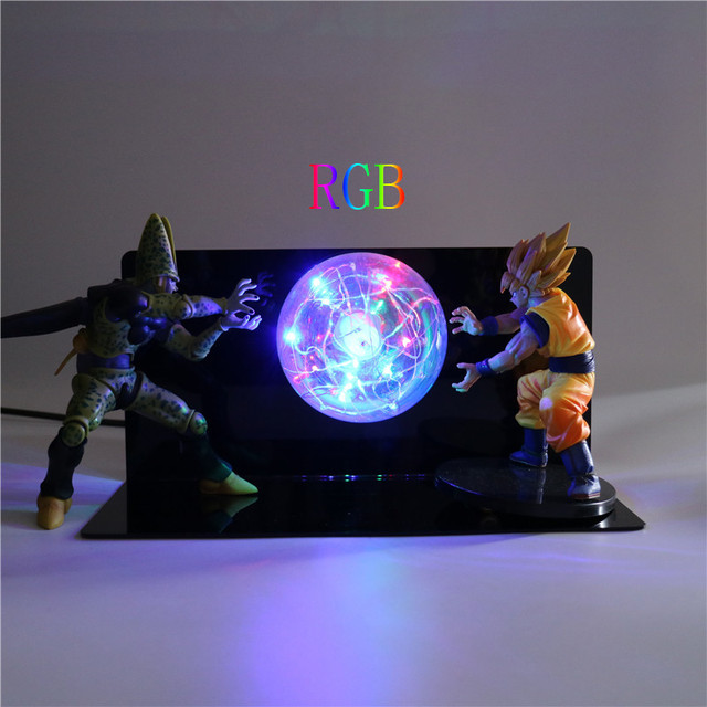 diy led night light cube dragon ball super bedroom action figures lamp baby diy led night light kids toys creative