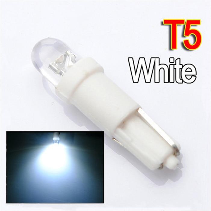 Hot Selling T5 37 58 70 1 LED DC12V Blue White Car Auto Dashboard Gauge Wedge Side Tail Lights Lamp Bulb 100pcs