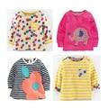 Los niños al por mayor camisas occidentales camiseta linda para las muchachas camiseta diseñador de manga larga pequeño bebé infant tops o-neck tee mixta tamaño