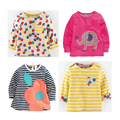 wholesale kids western shirts cute t-shirt for girls t shirt long sleeve designer little baby infant tops o-neck tee mixed size