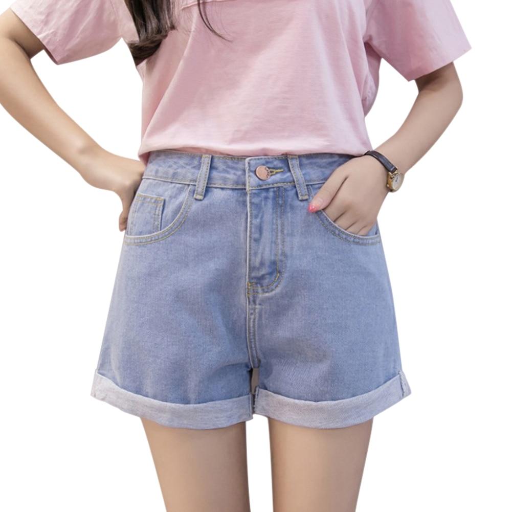 Women's Shorts Lady Girl High Waist Denim Short Loose for Summer Party Beach LBY2019