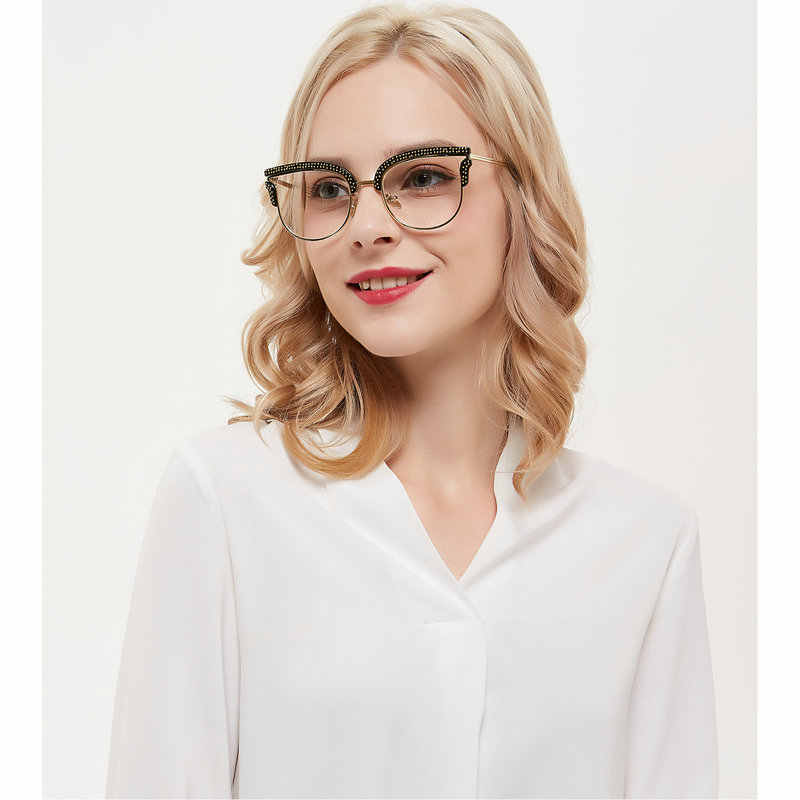 d8aedbe630 mincl  New Ladies Vintage Sexy Cat Optical Glasses Frame Female Brand  Luxury Eyeglasses Frame Women