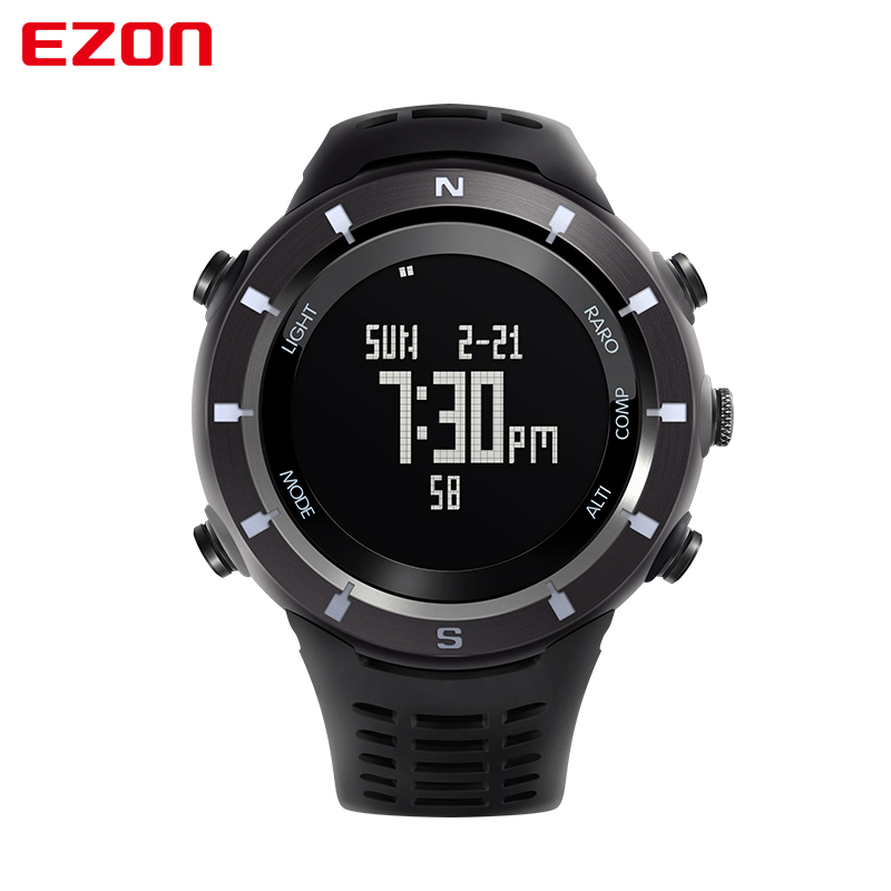 2016 Men Sports Watches EZON H001 Digital Watch Multifunctional Outdoor Climbing Wristwatches Altimeter Barometer Compass top brand ezon h506 outdoor hiking mountain climbing sport watch men s digital watches altimeter compass barometer