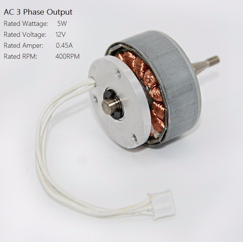Ac 3 Phase Permanent Magnet Generator 12v 0 45a Alternator