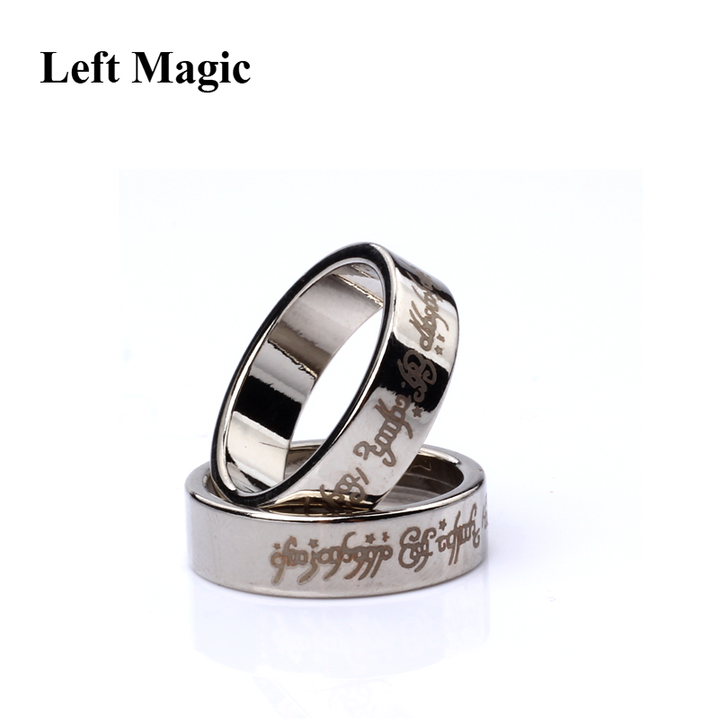 1 Pcs Strong Magnetic Magic Ring Magnet Ring Coin Magic Tricks Finger Decoration Magician Ring Magie Close Up Magia B1036