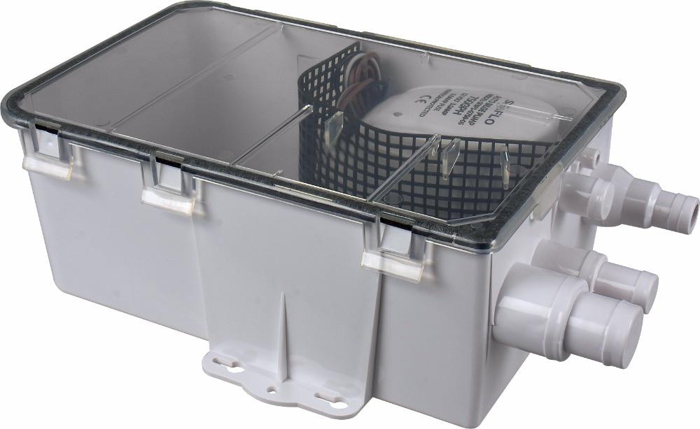 SEAFLO 12V 750GPH Shower Sump Pump System Boat RV Bilge Drain Box Multi Inlet compare to