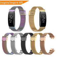 Mijobs Metal Strap for Fitbit Inspire/Inspire HR Band Smart Watch Stainless Steel Bracelet Inspire Accessories