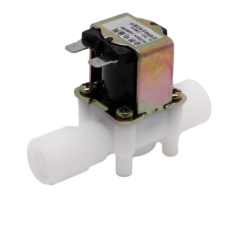 1/2 n/c Magnetische N/c Elektrische Magnetventil Wasser Lufteinlass Fluss Schalter Ac220v Aromatischer Charakter Und Angenehmer Geschmack Ventil Heimwerker