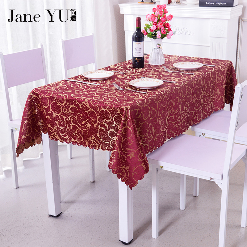 JaneYU Square Satin Tablecloth Table Covers For Wedding Party Restaurant Banquet Decorations 6 colors tableclothes