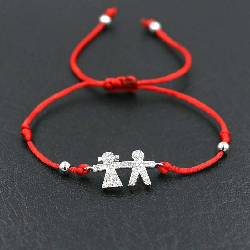 5c0896708f9b91 BPPCCR Lucky Angel Silver Color Goddess Lovers Charm Bracelets Red Rope  String Thread Women Girls Bracelets Jewelry Gifts-in Charm Bracelets from  Jewelry ...