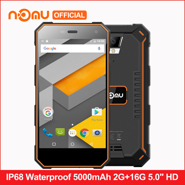 """Оригинал ному S10 IP68 Водонепроницаемый 4 г LTE Смартфон Android 6.0 5000 мАч 4 ядра mtk6737t 5.0 """"2 ГБ Оперативная память 16 ГБ Встроенная память мобильного телефона"""